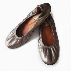 Lanvin ballerinaflats gray pewter 7.5 all leather